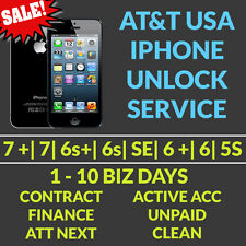 AT&T UNLOCK SEMI PREMIUM SERVICE FOR IPHONE ALL MODELS 6s+ 6s 6+ 6 5c FINANCED