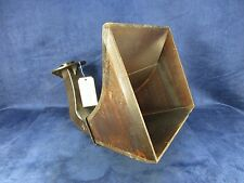 "Victrola Internal Speaker Horn Cast Iron & Mahogany 14-1/2"" x 12-1/2"" (#2784)"