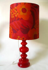 70s Tisch Lampe Pop Art Glas 84 cm big flower power bubble glass lamp annees 70
