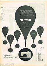 PUBLICITE ADVERTISING 105  1959  NECCHI    machine à coudre SUPERNOVA AUTOMA 2