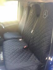 Mercedes Sprinter 2006 - 2014 BLACK Seat Covers 1 SINGLE 1 DOUBLE (2+1)