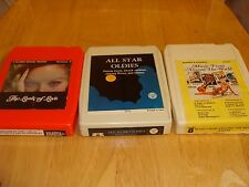Lot of 3: 8 track tapes - All star oldies - Music from around the world - Baxter