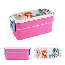 New Disney Frozen Kid Elsa Anna Picnic Lunch Box Lunchbox Food Container