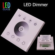 LED dimmer controlador para pared instalación Touch-pad, color blanco -