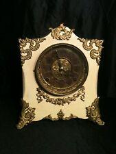 Kroeber Antique Cast Iron Case white Shelf Mantle Clock