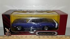 1/18 ROAD SIGNATURE 1970 DODGE CORONET R/T CONVERTIBLE PURPLE, BLACK INTERIOR rd