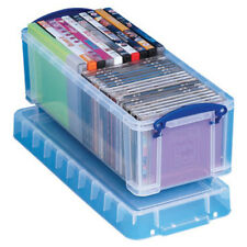 2 Really Useful Plastic Storage Boxes / Plastic 6.5 Litre 430 x 180 x 160 +24 H