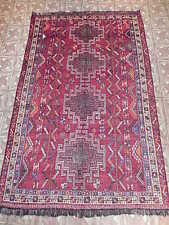 Persian Hand Knotted Carpet 5' x 8' ft Ancient Tribal Artistry Rugs for Cheap