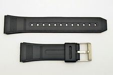 22mm Watch  BAND Strap Fits CASIO DBC-62 Data Bank Black Rubber