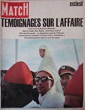 PARIS MATCH N° 0878 de 1966  AFFAIRE BEN BARKA TEMOIGNAGE / PASTEUR / LOREN