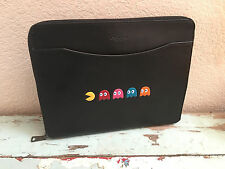 NWT Coach PAC-MAN Leather Tech / IPad Case F56058 Black *Limited Edition*