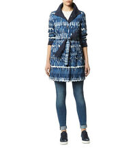 Weekend by Maxmara Blue Davy Paint Print Reversible Coat was £335  NEW size 10
