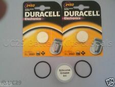 2 Duracell Batterys & O Ring Kit Suunto Cobra Vytec Vyper Gekko with FREE GREASE