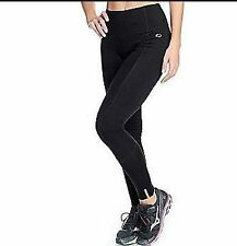 Copper Fit Copper Infused Stretch Knit Elastic Waist Leggings BLACK  LARGE NWT