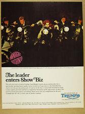 1967 Triumph motorcycles Ann-Margret Las Vegas show photo vintage print Ad