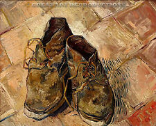 """Shoes"" van Gogh, Still Life, Reproduction in Oil,  22""x18"""