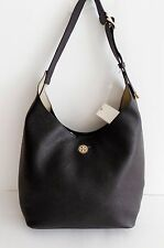 NWT Tory Burch Perry Leather Large Hobo Bag ~ Black