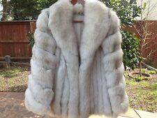 Women's Fox Fur Winter Coat Jacket Size 6