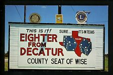 Postcard Vintage Greetings From Decatur Texas TX Chrome Map Dice Rotary Jaycees