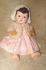 "VTG all original 1950's 15"" Tiny Tears Doll, ORJ rubber pant/pantie, Caracul Wig"