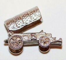 Vintage Sterling Silver Bracelet Charm Opening Western Wagon Furniture Inside