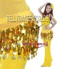 BELLY DANCE GOLD COIN HIP SCARF SKIRT WRAP BELT 11COLOR