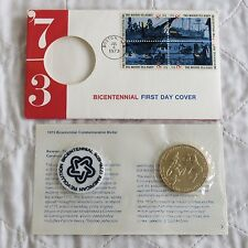 USA 1973 BICENTENNIAL COMMEMORATIVE 38mm MEDAL FIRST DAY COVER - sealed pack