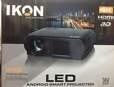 IKON ik400 LED 4K Home Theater Projector & IS72 Projector Screen