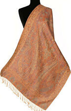 Rose & Violet Silk  Indian Shawl Reversible Jamavar Shawl Jamawar Stole Pashmina