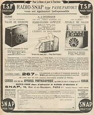 Y9174 Radio Snap type passe-partout - Pubblicità d'epoca - 1927 Old advertising