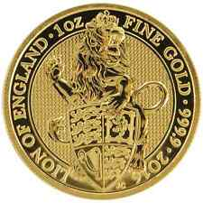 2016 U.K. 100 Pound 1 oz Gold Queen's Beast BU The Lion