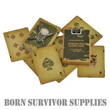 KA-BAR KNIVES INC SKULL PLAYING CARDS - Tactical Army Military Kabar USMC Poker