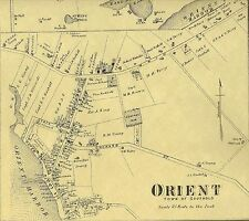 Orient  East Marion  New Suffolk  NY 1873  Map with Homeowners Names Shown
