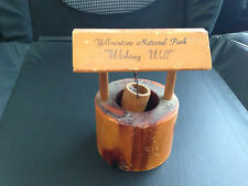 Vintage YELLOWSTONE PARK Wooden Wishing Well Souvenir