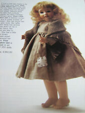 Wendy Lawton POOR LITTLE MATCH GIRL Doll Ad Advertisement Only