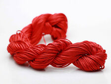 Red 28M/roll 1mm Chinese Knotting Nylon Thread Cord  Beading Bracelet Rope