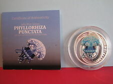 PITCAIRN 2010 JELLYFISH SERIES Phyllorhiza Punctata SILVER PROOF $2 COIN