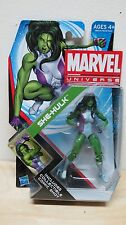 NEW MOC HASBRO MARVEL UNIVERSE SERIES SEALED ON CARD GREEN SHE HULK IN HAND
