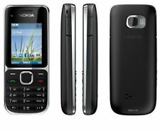 Nokia C2-01 Black 3G Sim free Unlocked Mobile Phone Complete Box - New Condition