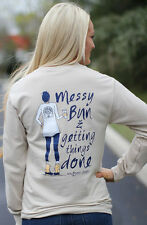 Southern Darlin' Collection Messy Bun & Getting Things Done T-Shirt LS - X-LARGE