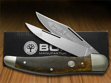 BOKER TREE BRAND Smooth Brown Bone Midfolding Hunter Carbon Steel Pocket Knife