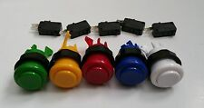 Arcade Push Button 5 Colors LOT of 10 with micro switch