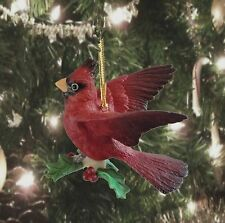 Lenox Winter Greetings Cardinal Ornament - Large Bird w/ Outstretched Wings -NEW