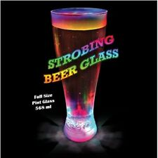 Strobing LED Beer Glass, light up plastic glass, disco multi coloured effect 651