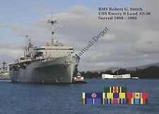 USS EMORY S LAND AS-39 Personalized Canvas Print * Sub Tender