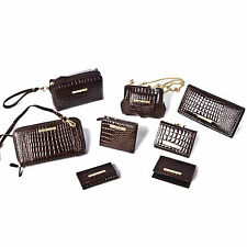 Designer Crocodile Skin 8pc Shoulder Bag and Purse Set Wallet Handbag