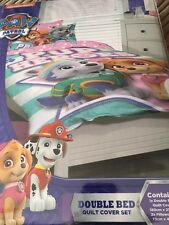 PAW PATROL DOG DOUBLE /US FULL bed QUILT DOONA DUVET COVER SET NEW