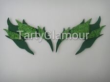 Poison Ivy Eyebrows with Glitter Leaves, Comic Con, Cosplay, Costume, Halloween