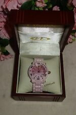 Oniss Paris Oversized HI TECH pink Ceramic pink dial swiss Watch NEW