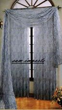 "1PC ZEBRA WHITE GRAYISH PRINTED SOFT VOILE SHEER WINDOW CURTAIN PANEL 55""X84"""